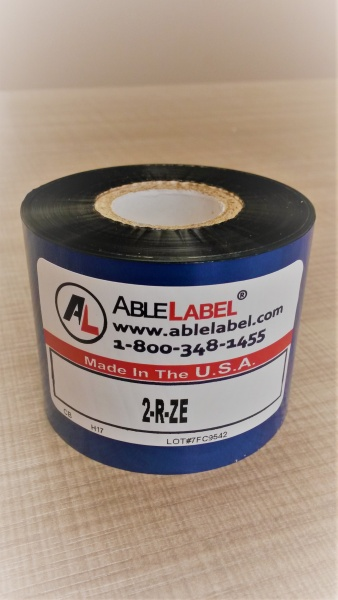 "2"" x 984' Black Wax Ribbon for Zebra Printer"