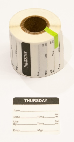 able-label-2-by-2-white-with-black-print-day-of-week-thursday-food-rotation-water-dissolvable-label