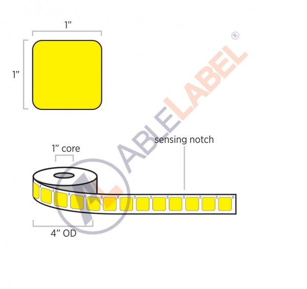 able-label-1-by-1-dymo-compatible-flood-yellow-direct-thermal-label