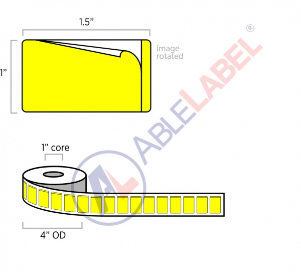 able-label-1-and-a-half-by-1-flood-yellow-piggyback-label-wound-on-4-inch-outside-diameter-by-1-inch-core
