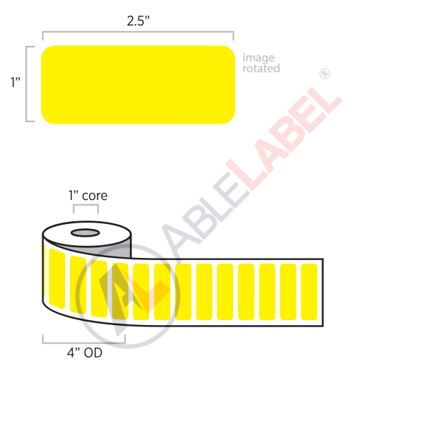 able-label-2-and-a-half-by-1-flood-yellow-label-wound-on-4-inch-outside-diameter-by-1-inch-core