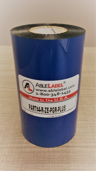 "4.33"" x 984' Black Wax/Resin Ribbon for Zebra Printer"