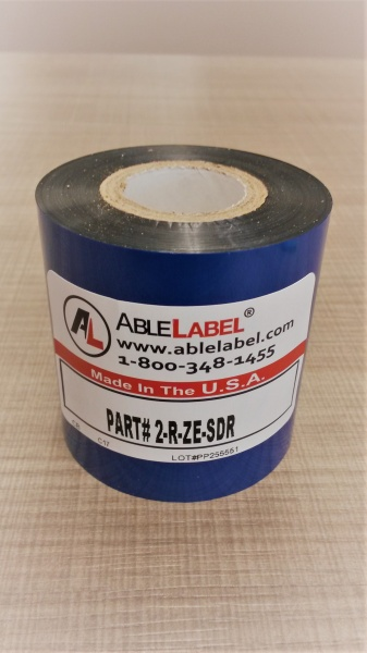 "2.36"" x 984' Black Resin Ribbon for Zebra Printer"