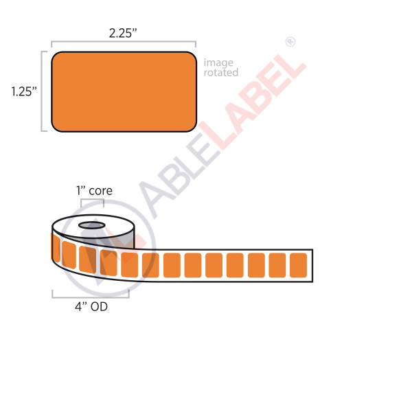 able-label-2-and-a-quarter-by-1-and-a-quarter-flood-orange-label-wound-on-4-inch-outside-diameter-by-1-inch-core